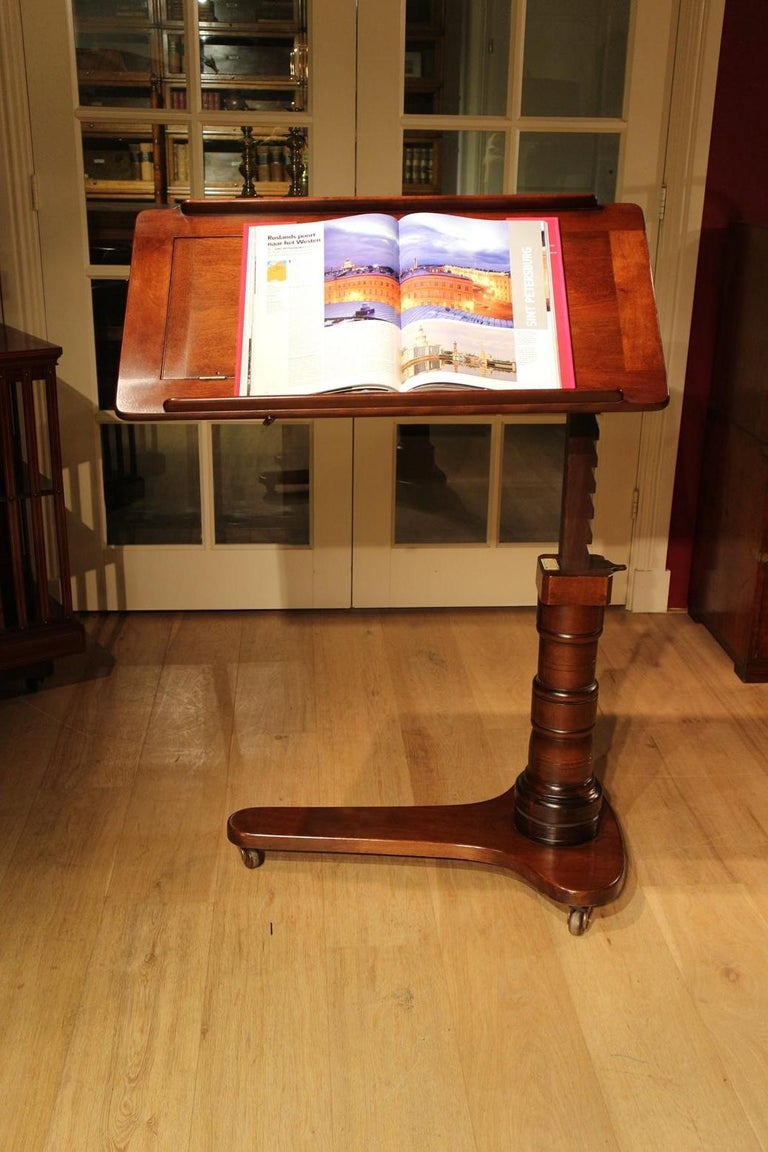 19th Century Mahogany Reading Table / Bed Stand 3