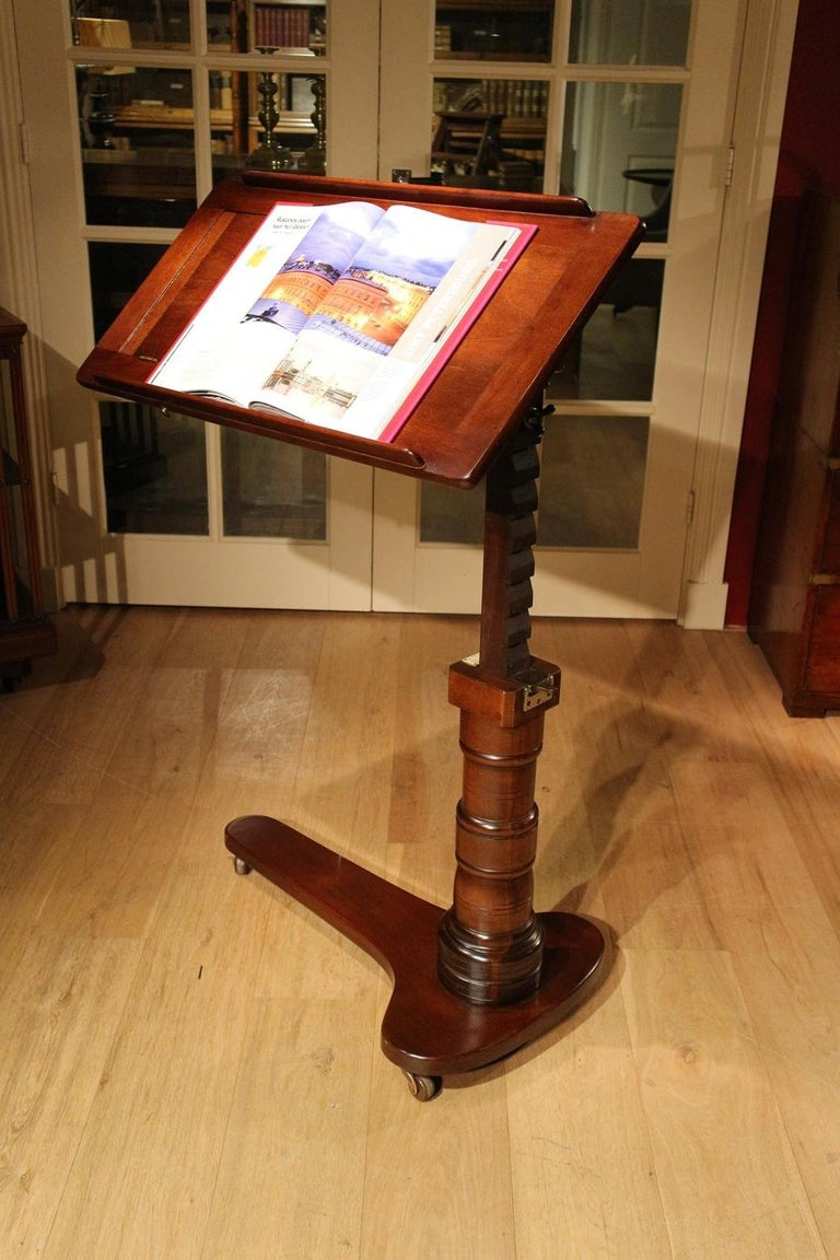 19th Century Mahogany Reading Table / Bed Stand 4