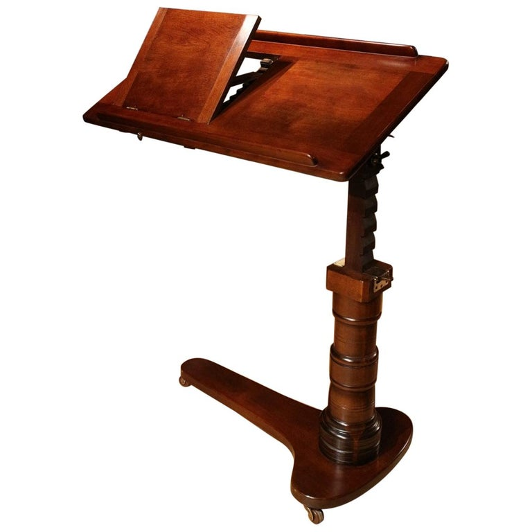 19th Century Mahogany Reading Table / Bed Stand