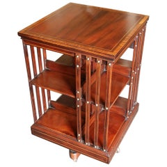 19th Century Mahogany Revolving Bookcase Maple & Co.