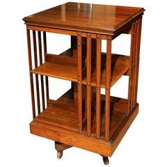 19th Century walnut Revolving Bookcase Maple & Co