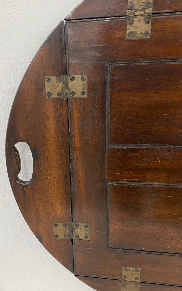 Hand-Crafted 19th Century Mahogany Serving Tray For Sale