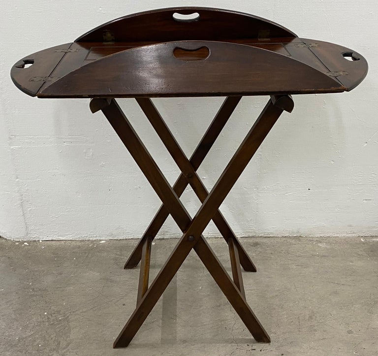 19th Century Mahogany Serving Tray For Sale 2