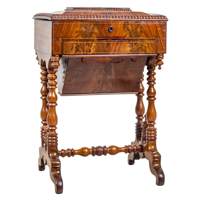 19th Century Mahogany Sewing Table For Sale