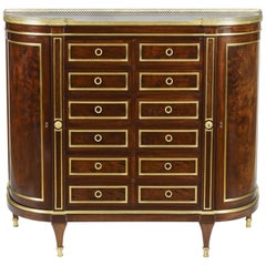 19th Century Mahogany Side Cabinet in the Louis XVI Manner by Durand of Paris