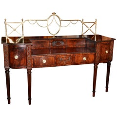 19th Century Mahogany Sideboard in Neoclassical Sheraton
