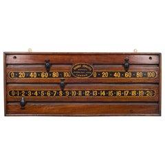 19th Century Mahogany Snooker Scoreboard, circa 1870