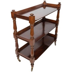 19th Century Mahogany Three-Tier Trolley/Etagere