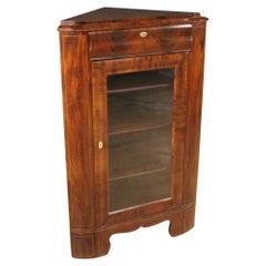 19th Century Mahogany Wood Antique Dutch Corner Cabinet, 1870