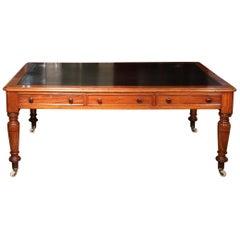 19th Century Mahogany Writing Table / Library Table