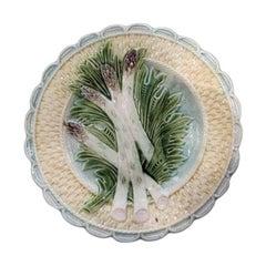 19th Century Majolica Asparagus Plate