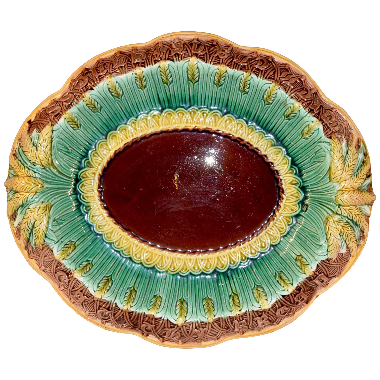 19th Century Majolica Bread Tray