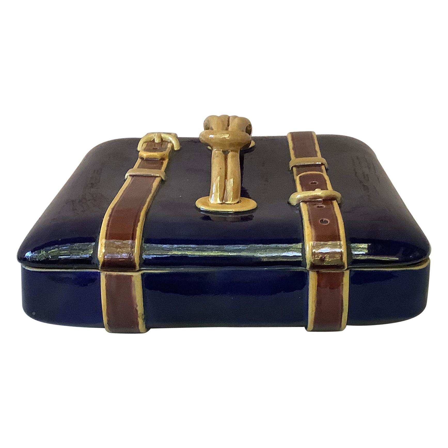 19th Century Majolica Brown Westhead Moore Box