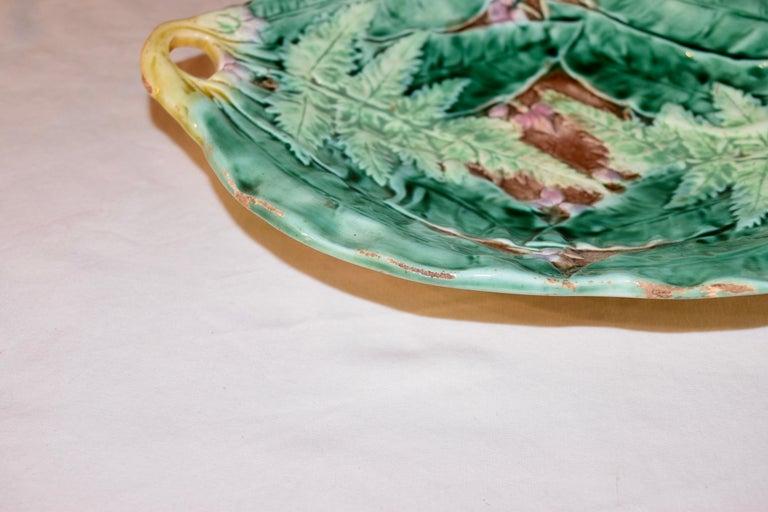 19th Century Majolica Fern Tray For Sale 1