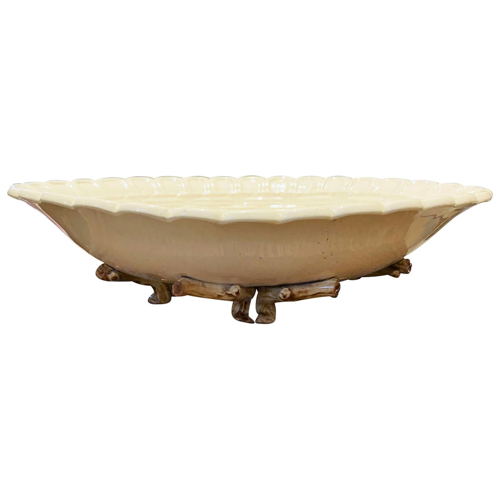 19th Century Majolica Fruit Bowl