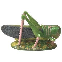 19th Century Majolica Grasshopper Jardinière Jerome Massier