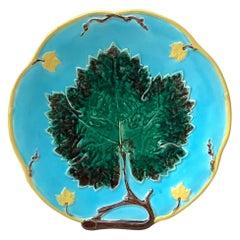 19th Century Majolica Leaf Comport Joseph Holcroft