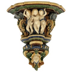 19th Century Majolica Minton Wall Bracket