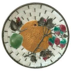19th Century Majolica Orange Plate Wedgwood