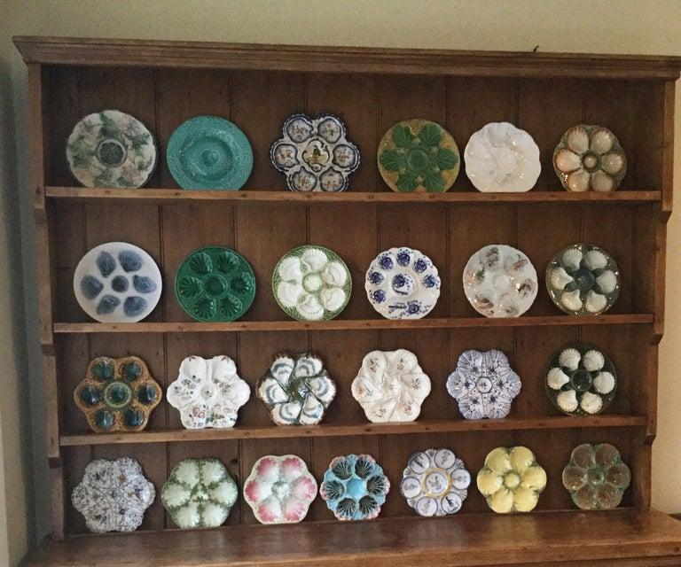 Ceramic 19th Century Majolica Oyster Plate Choisy Le Roi For Sale