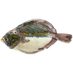 19th Century Majolica Palissy Fish Platter Thomas Sergent