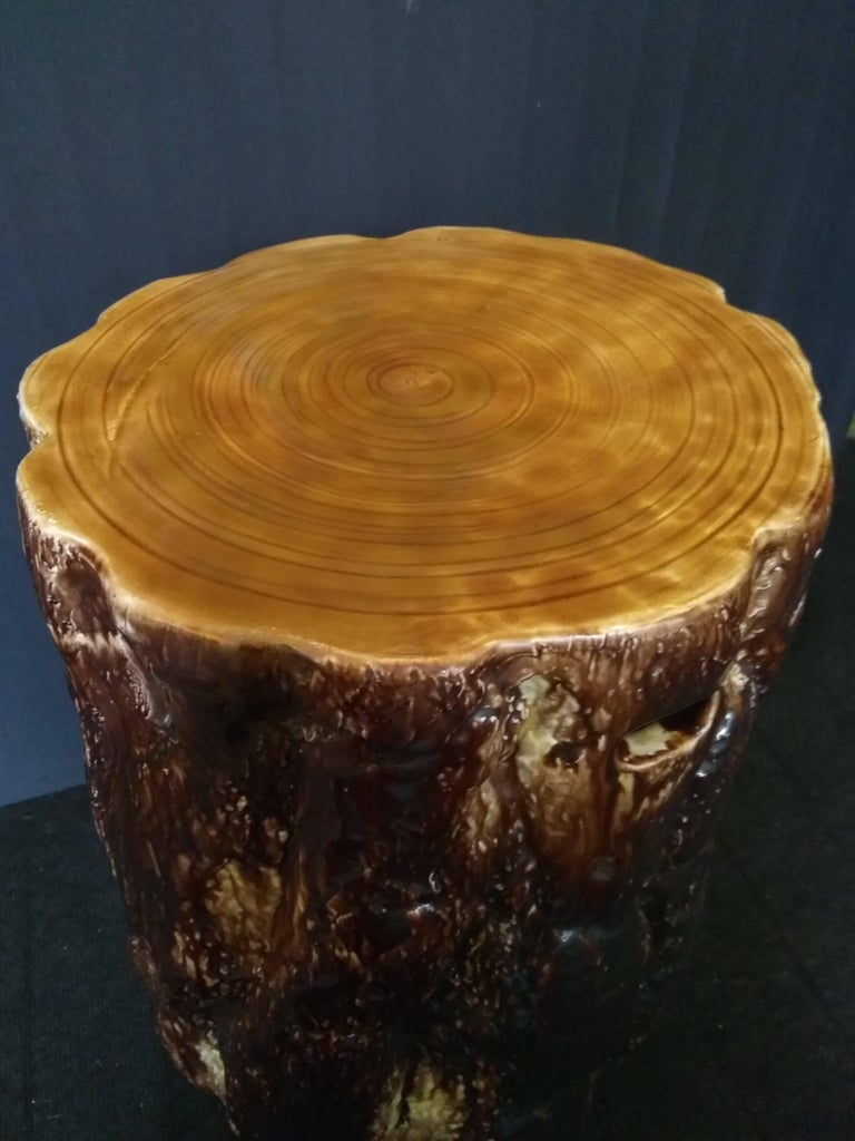 19th Century Majolica Stool By Gustavsberg Factory For