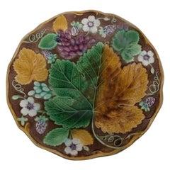 19th Century Majolica Strawberry Plate Wedgwood