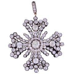 19th Century Maltese Diamond Pendant/Brooch