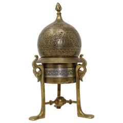 19th Century, Mamluk Revival Brass Openwork Incense Burner, Egypt