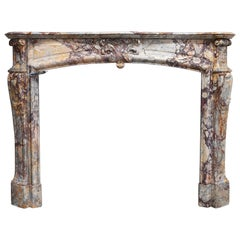 19th Century Mantel Piece in Style of Regence De Pompadour