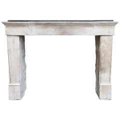 19th Century Mantle of French Limestone from the 19th Century