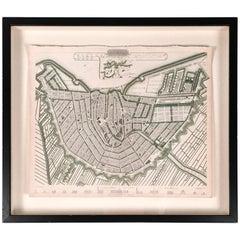 19th Century Map of Amsterdam
