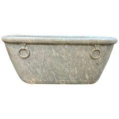 19th Century Marble Basin Tub from Italy