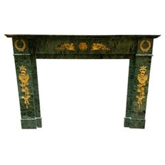 19th Century Marble Fireplace from France