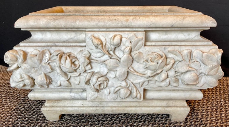 French 19th Century Marble Planter or Jardinière For Sale
