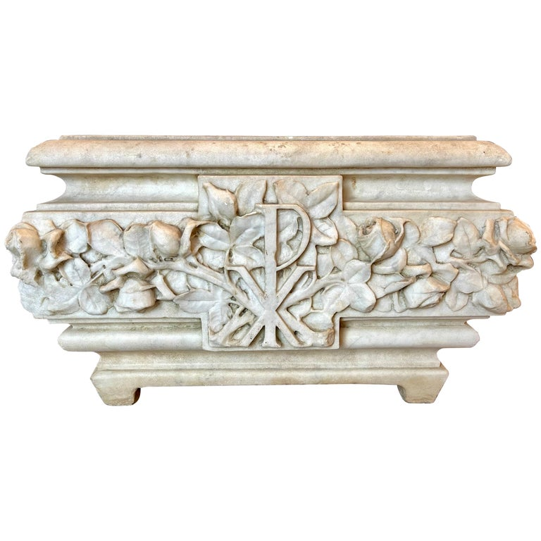 19th Century Marble Planter or Jardinière For Sale