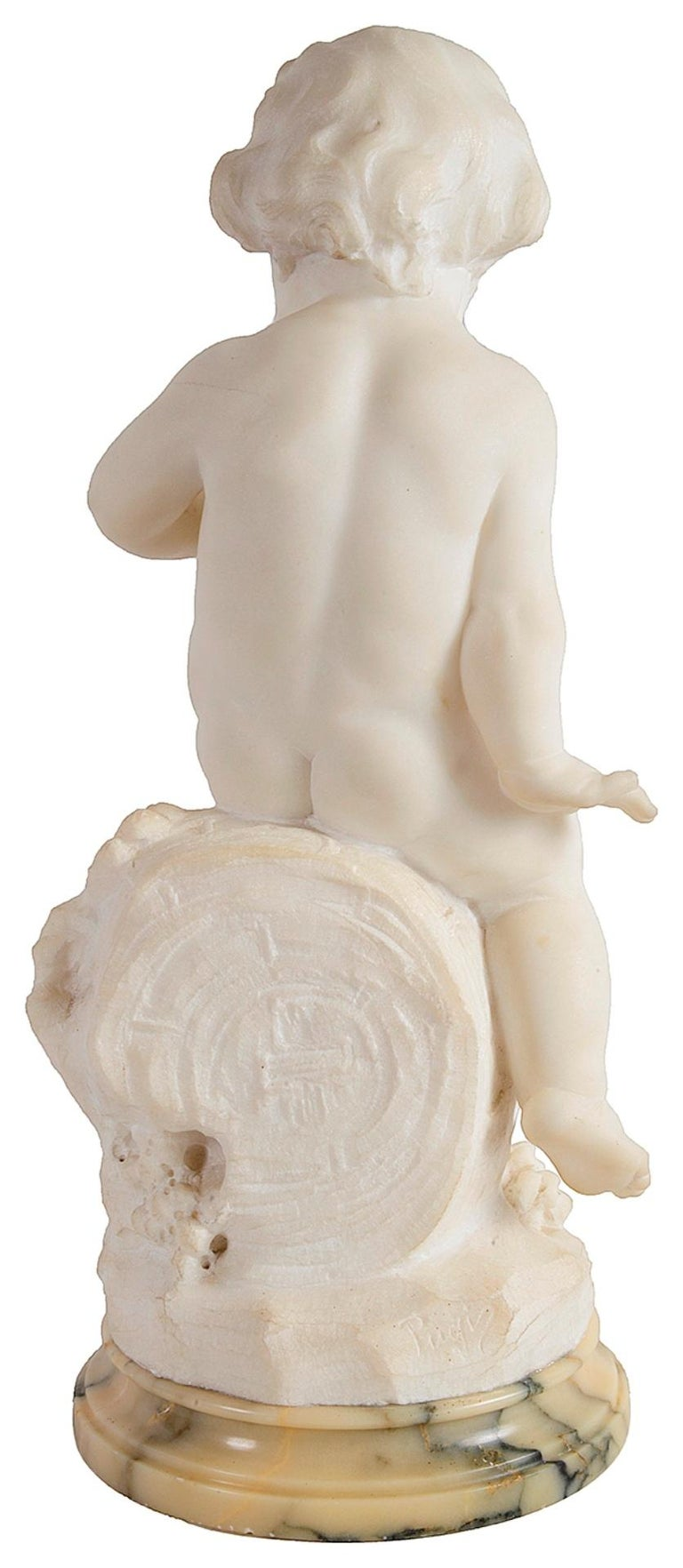 Italian 19th Century Marble Statue of a Young Bacchus Boy For Sale