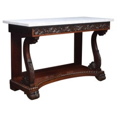 19th Century Marble Top Console Table