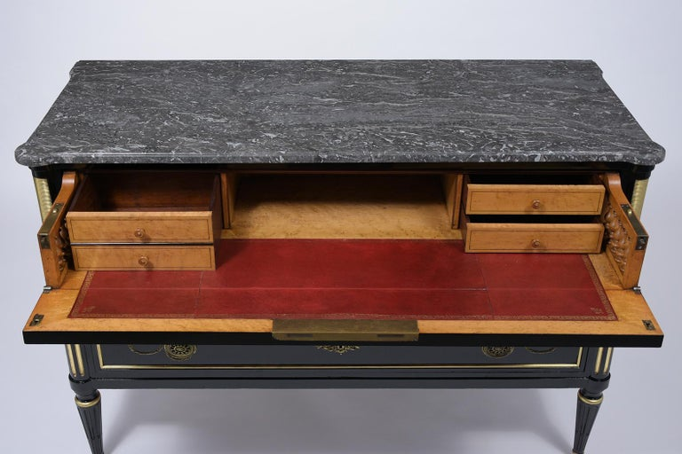 Louis XVI 19th Century Marble Top Secretaire For Sale