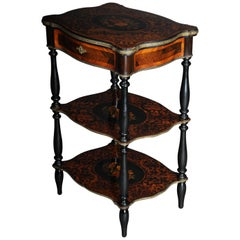 19th Century Marquetry Side Table with Jewelry Box, circa 1870