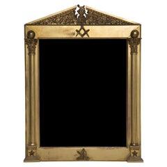 19th Century Masonic Mirror