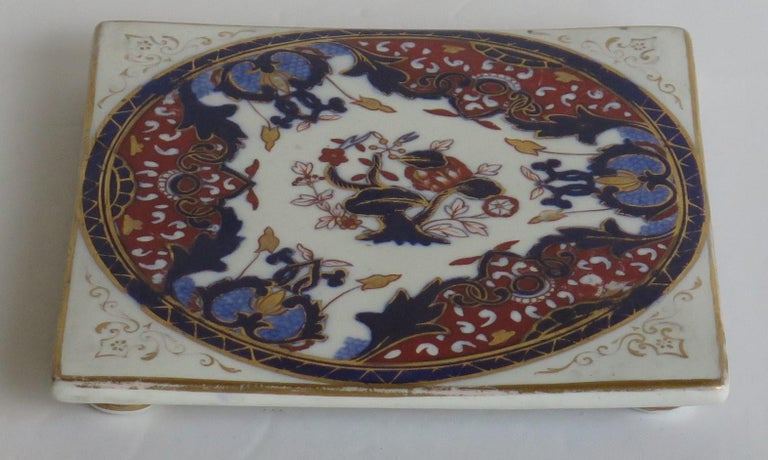 Hand-Painted 19th Century Mason's, Ashworths Ironstone Teapot Stand, Hand Painted Ptn 4974 For Sale