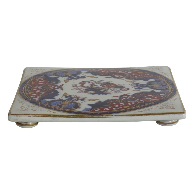 19th Century Mason's, Ashworths Ironstone Teapot Stand, Hand Painted Ptn 4974 For Sale
