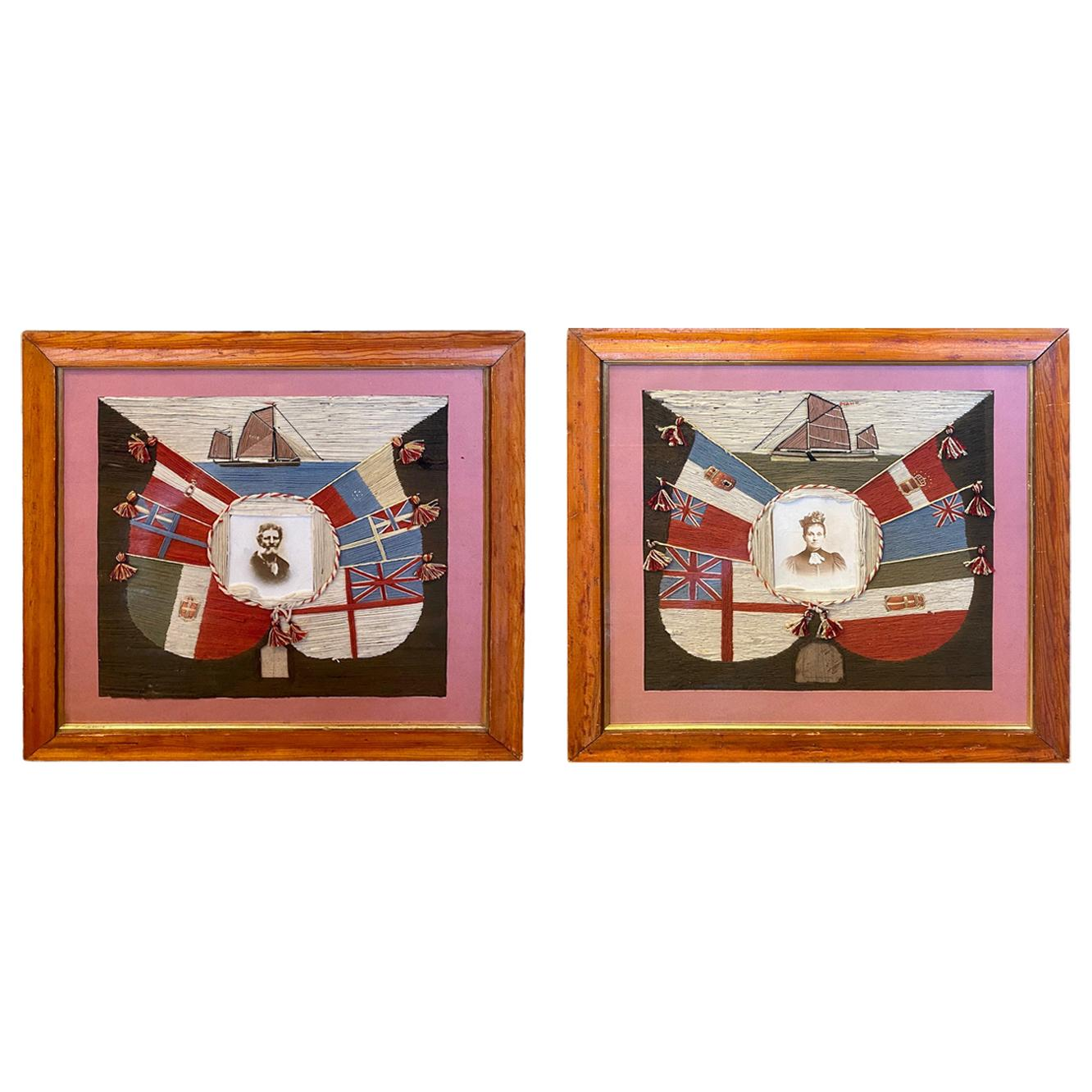 19th Century Matched Pair of Sailor's Yachting Woolies