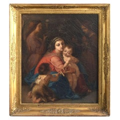 19th Century Maternity Oil on Canvas