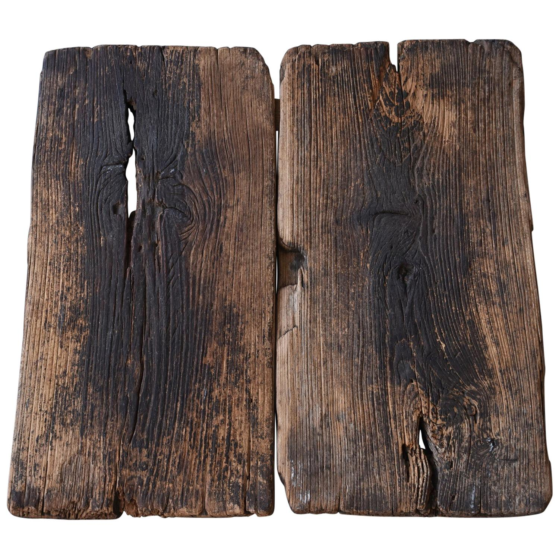 19th Century Meiji Era Japanese old wooden board / Wabi-Sabi top board
