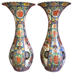19th Century Meiji Imari Palace Vases a Pair