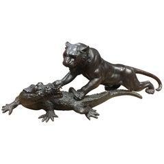 19th Century, Meiji Period, Japanese Bronze Sculpture