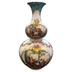 19th Century Meissen Augusto Rex Porcelain Vase Hand Painted, 1860s