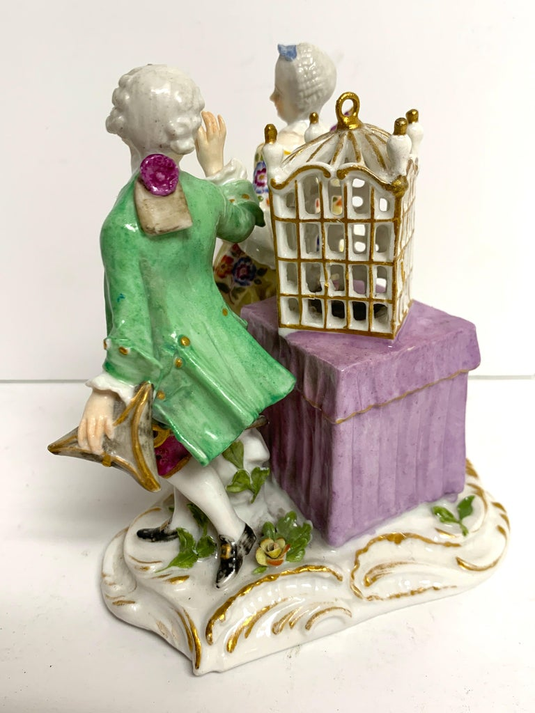 19th Century Meissen Birdcage Grouping For Sale 4